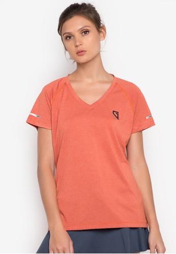 Gametime orange Women's Gametime V-neck T-Shirt GA593AA73HREPH_1