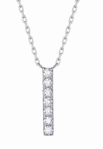Smiling Rocks white 10K White Gold 0.11ct Lab Grown Diamond Mytype Necklace D3018AC66C3368GS_1