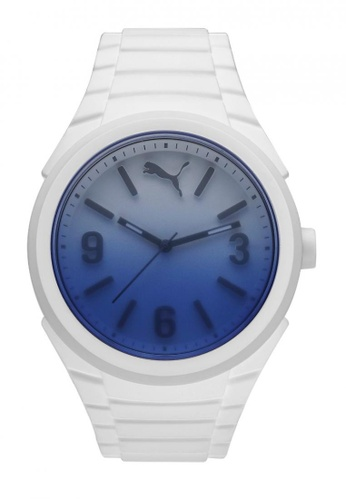 Puma white PU103592009 Gummy Fading White Blue Men Watch PU549AC0RJZ4MY_1
