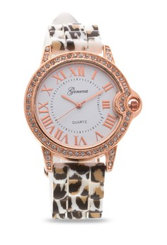 Leopard print Silicone Band Watch 15960