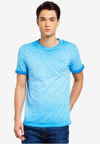 Superdry 藍色 短袖刺繡T恤 8378DAA8FA68DEGS_1