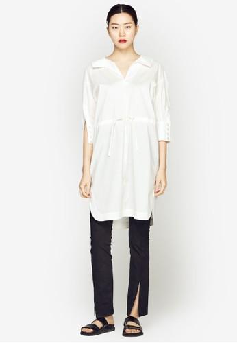 寬版襯衫連身裙, esprit hk服飾, 洋裝