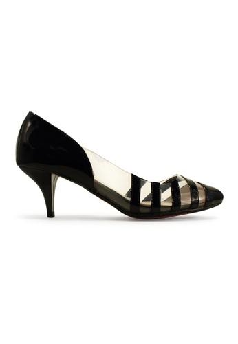 Gripz black Strapious Glossy Mid Heels GR357SH95IRKSG_1