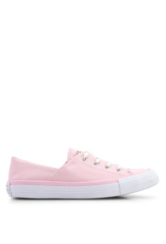 9c8eb92cf63d Converse pink Chuck Taylor All Star Coral Brushed Twill Ox Sneakers  1AE7ESHB5EB946GS_1
