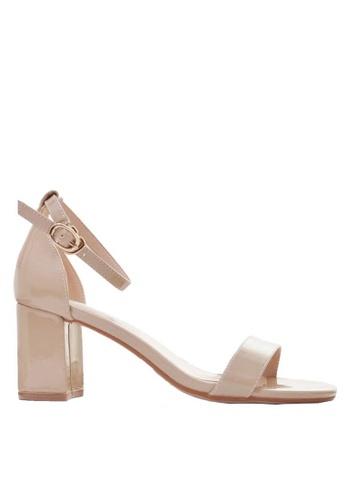 Twenty Eight Shoes beige Patent Strap Heeled Sandals 5691-3a 62F02SH4D8D1B9GS_1