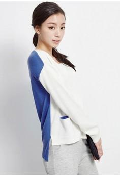 Contrast Pop Knit Pullover