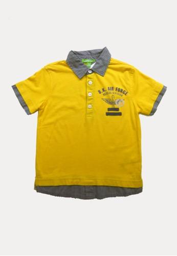 Bossini yellow Bossini Kids Boy Shirt Egg Yolk (93003617008) 962ACKA7C16C2AGS_1