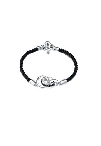 ADORA silver Leather Bracelet AD365AC46GYFHK_1