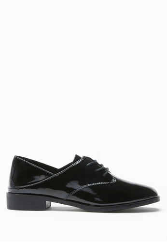 PAZZION black Open Heeled Oxfords 6D0A0SHB4C7C37GS_1