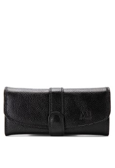 Tab-Cluch Leather Long Wallet With Quad Compartment