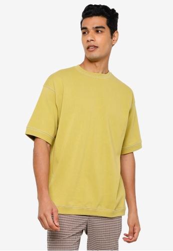 RAGEBLUE yellow Knit T-Shirt 6D9D9AA97100C3GS_1