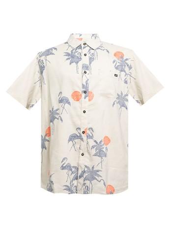 Billabong beige Sundays Floral Short Sleeve Shirt 0CF53AA84192B4GS_1