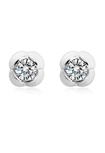 OUXI OUXI 925 Sterling Silver Tulip Earrings OU821AC61UHAMY_1