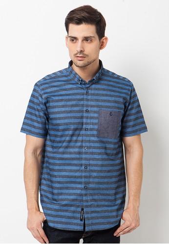 scoothood blue Pulleys Shirt Td Lott Stripes Misty Blue PLY-OG003 SC330AA60MYDID_1
