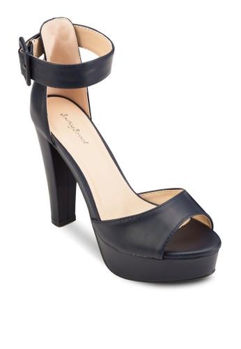 扣環踝帶露趾厚底高跟涼鞋, 女鞋, esprit門市魚口鞋