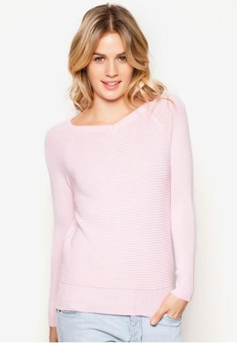 混羊毛V領針織衫, 服飾,zalora 台灣 毛衣& 針織外套