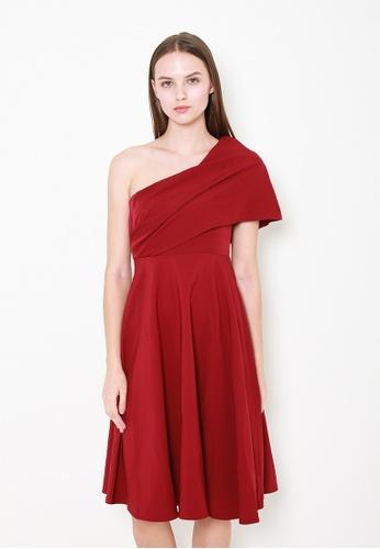 Leline Style red Gianna Toga Dress 2161EAABF6E95CGS_1