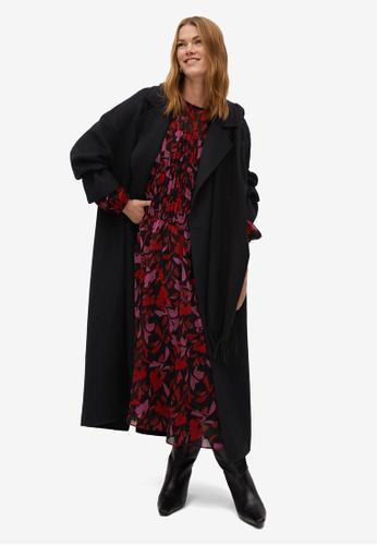 Mango black Floral Print Dress 011C9AA866A6DBGS_1