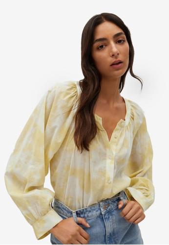 Mango yellow Printed Cotton Shirt 60C3FAA10F7A7EGS_1