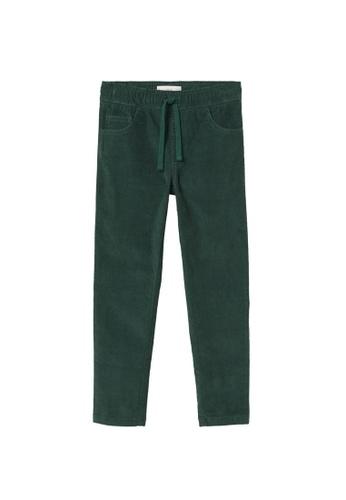 MANGO KIDS green Slim Fit Corduroy Trousers BD731KAC4FF16EGS_1