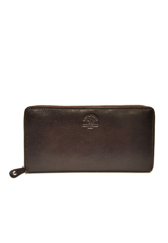Santa Barbara Polo & Racquet Club brown Santa Barbara Luxurious Leather Zip Closure Wallet SA678AC0GQ9GSG_1