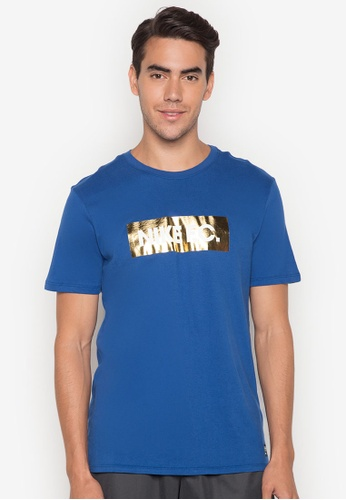 Nike white and blue Men's Nike F.C. Foil T-Shirt NI126AA0S24EMY_1