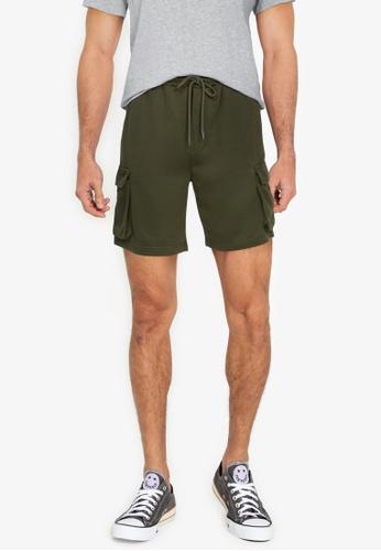 ZALORA BASICS green Cargo Bermuda Shorts 719E1AA594205CGS_1