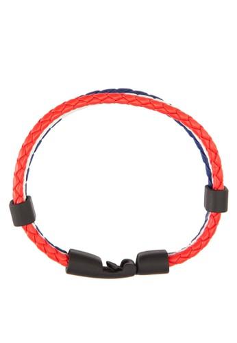 三層撞esprit手錶專櫃色編織皮革手環, 飾品配件, 手環
