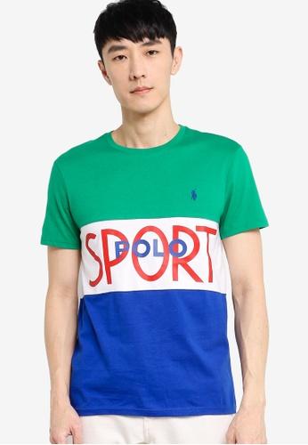 Polo Ralph Lauren green Colour Block T-Shirt 0FC31AAD4407E0GS_1