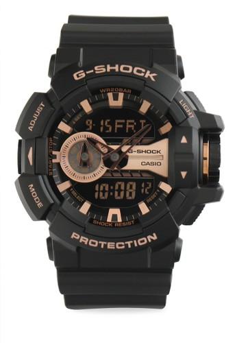 Casio black Casio G-SHOCK Jam Tangan Pria - Black Brown - Resin - GA-400GB-1A4DR F12A4AC697EDDAGS_1