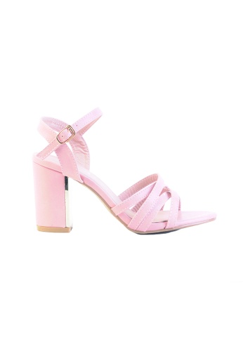 6ac5ccb6991e Alfio Raldo pink Classy Pink Block Heel with Gold Metal Detail  40B46SH0F1B9C9GS 1
