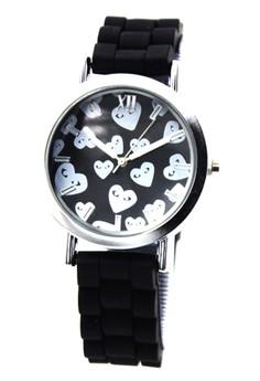 Caite Heart Rain Silicon Stap Watch 3078L