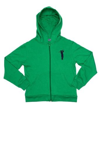 BOSSINI KIDS green Hoodie Jacket 1515AKAC7FA852GS_1