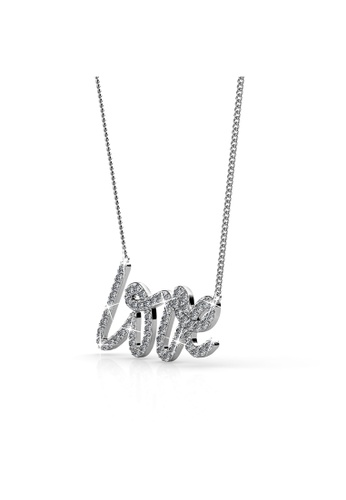Her Jewellery silver Love Pendant -  Embellished with Crystals from Swarovski® HE581AC0RDHBMY_1