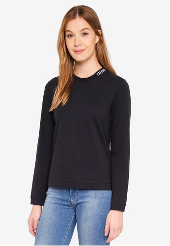 Calvin Klein black Embroidered Logo Long Sleeve T-Shirt - Calvin Klein Jeans 3178AAA31705BCGS_1