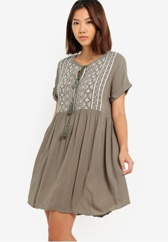 5779c1fec4e76 Buy Something Borrowed Embroidered Babydoll Dress Online on ZALORA Singapore