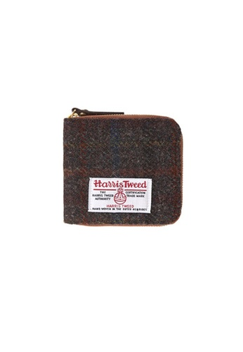 The Earth multi and brown HARRIS TWEED WALLET - D.BROWN TH763AC68HYPHK_1