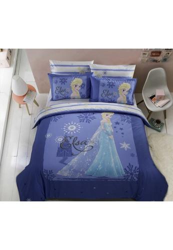 Eurotex Disney Frozen, 100% Cotton Sateen 700 Thread Count Quilt Cover Set - Summer Chill. 70C50HLA19ECF6GS_1