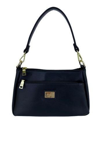 Mel&Co black Faux Leather Shoulder Sling Bag 48A05AC9B3D455GS_1
