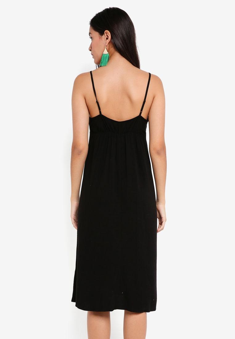 Petite Slip Midi TOPSHOP Dress Black Molly Front Ruched IBtfqIr
