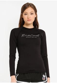70a5bf426c10a Rip Curl black Rosewood Long Sleeve Rashguard 2126EUSB179448GS_1