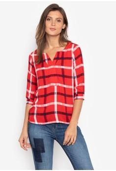 bf88ac5d17d Bobson red Quarter Sleeves Checkered Shirt With Hidden Button-Up  6CBB9AAA798AF9GS_1