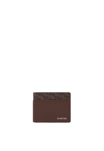 7c9eaa4d2ad1 SEMBONIA brown Men Leather Tri-Fold Wallet (Black) 4154BAC72483DDGS_1