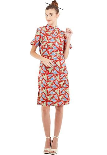 Flike Batik multi Cheongsam Dress Autumn Holiday D195BAA32C0E6AGS_1