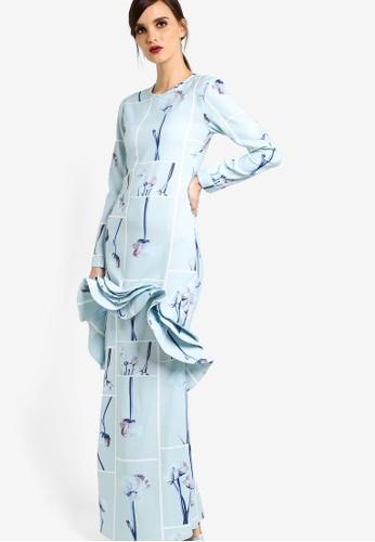 Rico Rinaldi for Zalora blue Cassia Dress RI533AA64DWPMY_1