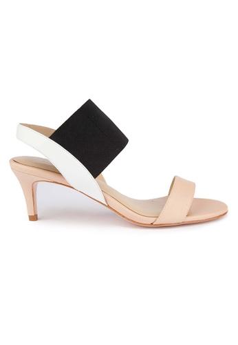 MAUD FRIZON pink Kid And Elastic Double Strap Sandals MA153SH01YCKHK_1