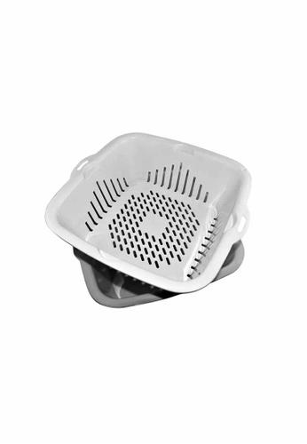 Slique grey Premium Fruit Basket - Collander - Strainer 2000ml 056ABHL3C02410GS_1