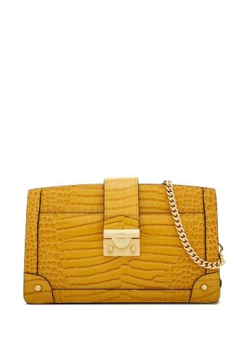 BONIA yellow Dark Yellow NR Croco Compact Crossbody Bag 5DD05ACC5A6622GS_1