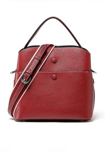 Twenty Eight Shoes red VANSA Leather Portable Crossbody Bucket Bag VBW-Cb202015 2655FACF0694AFGS_1