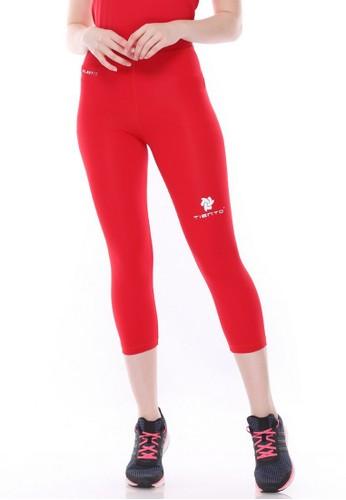 Jual Tiento Tiento Women Compression 3 4 Pants Red Celana Legging Leging Lejing Sebetis Wanita Olahraga Yoga Zumba Senam Lari Running Voli Original Zalora Indonesia